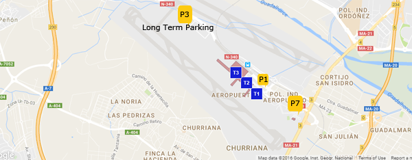 Parking at Malaga Airport - Maps and Rates on map of tarifa, map of the m25, map of valencia, map of puerto banus, map of almeria, map of torremolinos, map of zurich train station, map of cordoba, map of cadiz, map of ibiza, map of burgos, map of granada, map of seville, map of tarragona, map of oviedo, map of madrid, map of lloret de mar, map of barcelona,