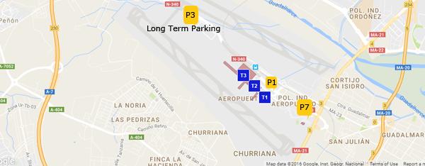 Malaga Airport Car Park Map